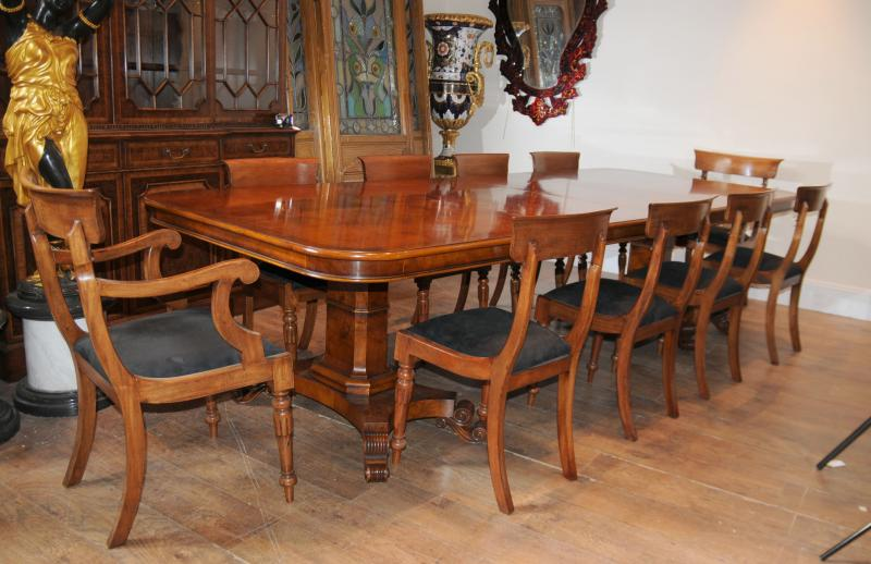 Noce Regency Dining Table & Chairs Set Suite