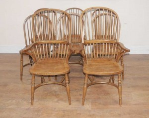 8 Oak Windsor Kitchen Dining Chairs