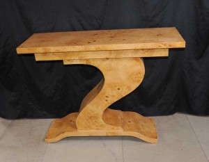 Art Deco Z Console Table Modernist Retro