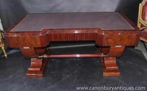 Big Art Deco Partners Desk Writing Table Bureau 1920s Office Furniture