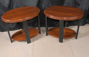 Pair Deco Modernist Side Tables Furniture