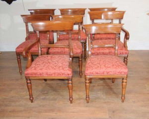 Regency Bar Back Dining Chairs Mahogany