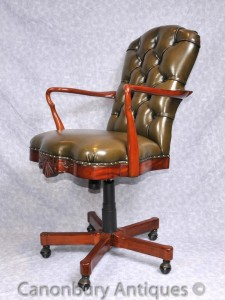 Regency Swivel Desk Arm Chair Office Seat Gainsborough Furniture