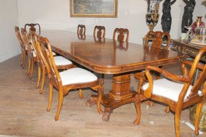 Regency Walnut Dining Set Queen Anne Chairs