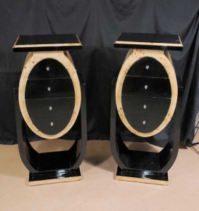 Retro Art Deco Bedside Cabinets Chests Tables