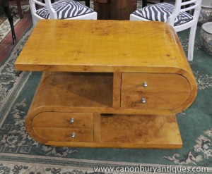 S Shape Art Deco Coffee Table Cocktail Tables 1920s Furniture