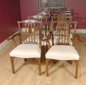 Set 10 English Mahogany Victorian Dining Chairs Chair