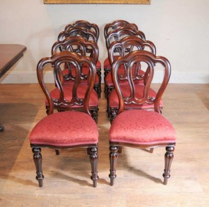 Set Victorian Balloon Back Admiralty Dining Chairs