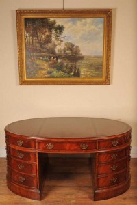 Victorian Mahogany Partners Desk Oval Office
