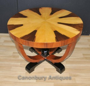 Art Deco Side Table Round Cocktail Tables