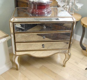 Mirrored Art Deco Chest Drawers Commode Mirror Furniture