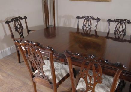 fuß-englisch-viktorianischen esstisch & gothic chippendale stuhl set, Esstisch ideennn
