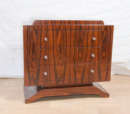 Art Deco Rosewood Chest Drawers Commode Cabinet Furniture