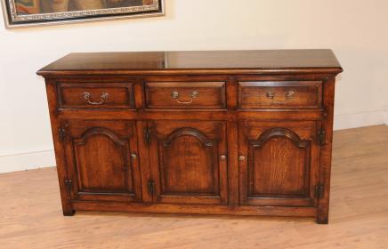 Oak Georgian Dresser Base Server Buffet Sideboard Farmhouse Furniture