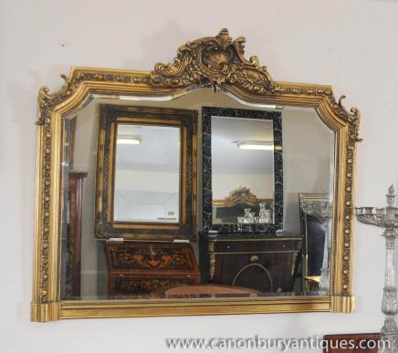 Victorienne sur le manteau Gilt Mirror Miroirs cadre sculpté