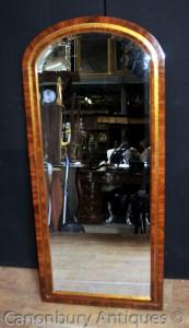English Regency Gilt Pier Mirror Tall Mahogany Dressing Mirrors