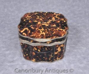 Victorian Silver Plate Jewellery Box Trinket Case Scallop