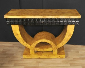 Art Deco Console Table Blonde Walnut Hall Tables Furniture