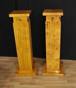 Pair Art Deco Classic Pedestal Plinth Columns Tables