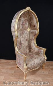 Regency Gilt Porters Chair Arm Chairs