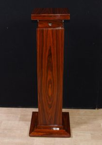 Single Art Deco Rosewood Pedestal Column Stand Table