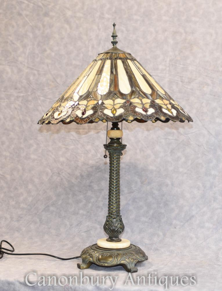 Art Nouveau Tiffany Table Lamp Light