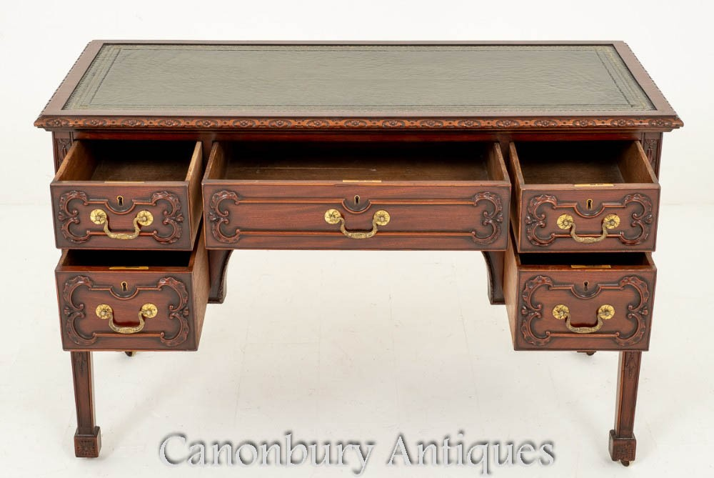 Antique Chippendale Desk Writing Table