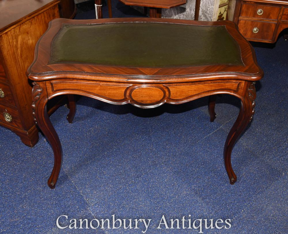 Antique French Writing Table Desk in Rosewood