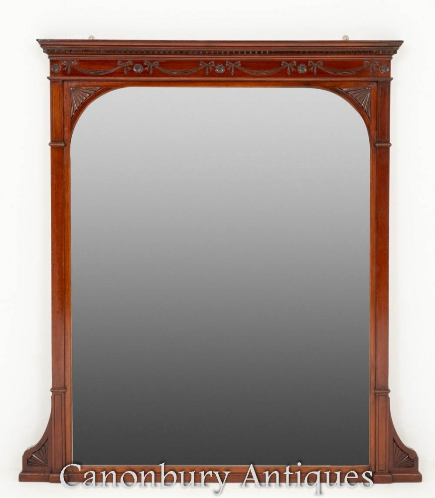 Antique Victorian Overmantle Mirror Circa 1880