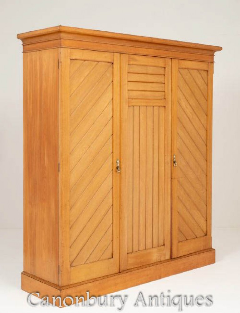 Arts and Crafts Wardrobe Closet in Ash Circa 1890