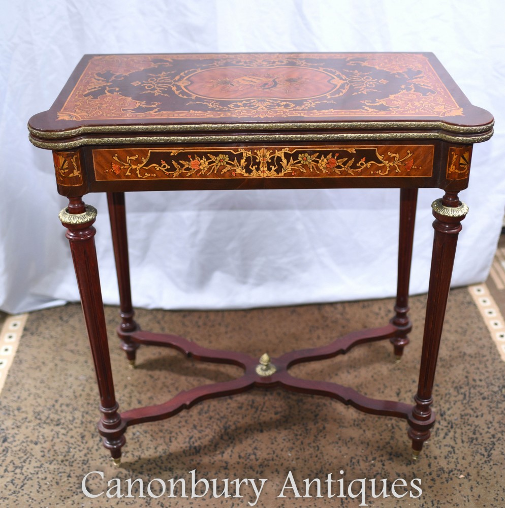 French Chess Games Table - Empire Side Tables