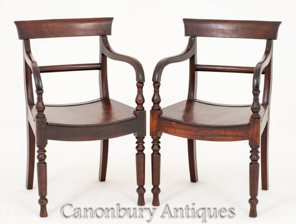 Pair Antique Victorian Arm Chairs