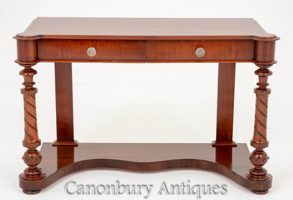 Victorian Antique Console Table in Mahogany Circa 1860