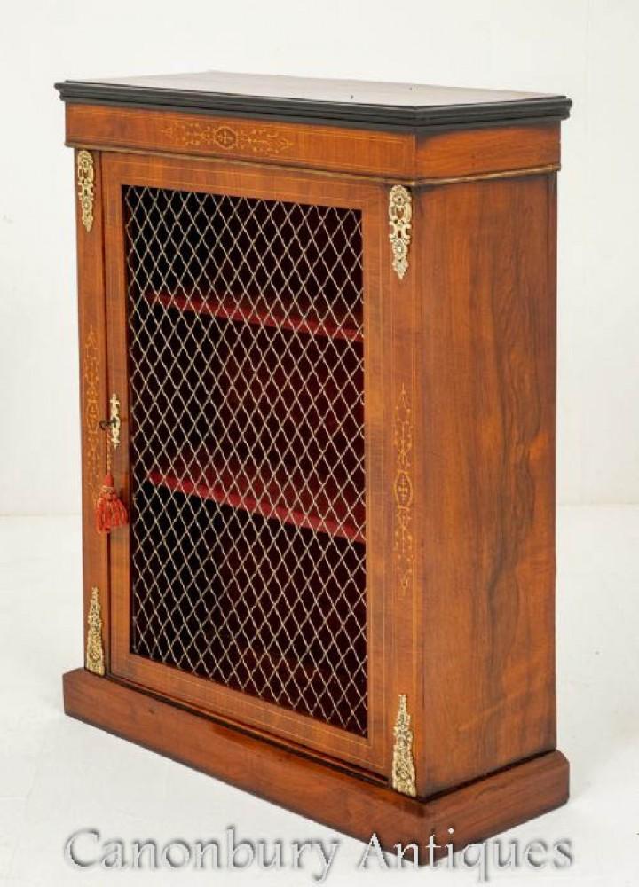 Victorian Walnut Pier Cabinet Circa 1870