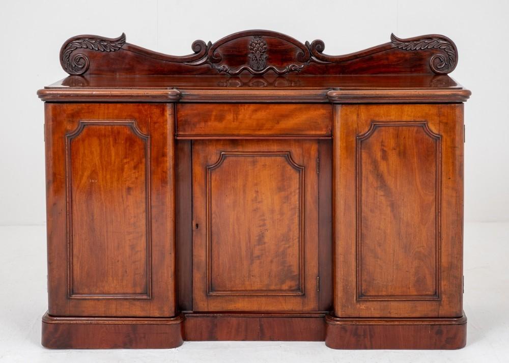 Antique Mahogany Sideboard - Victorian Server 1850