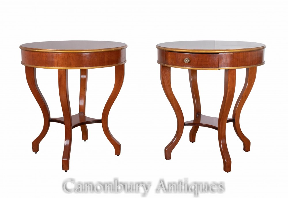 Pair Art Deco Side Tables - Vintage Furniture 1930