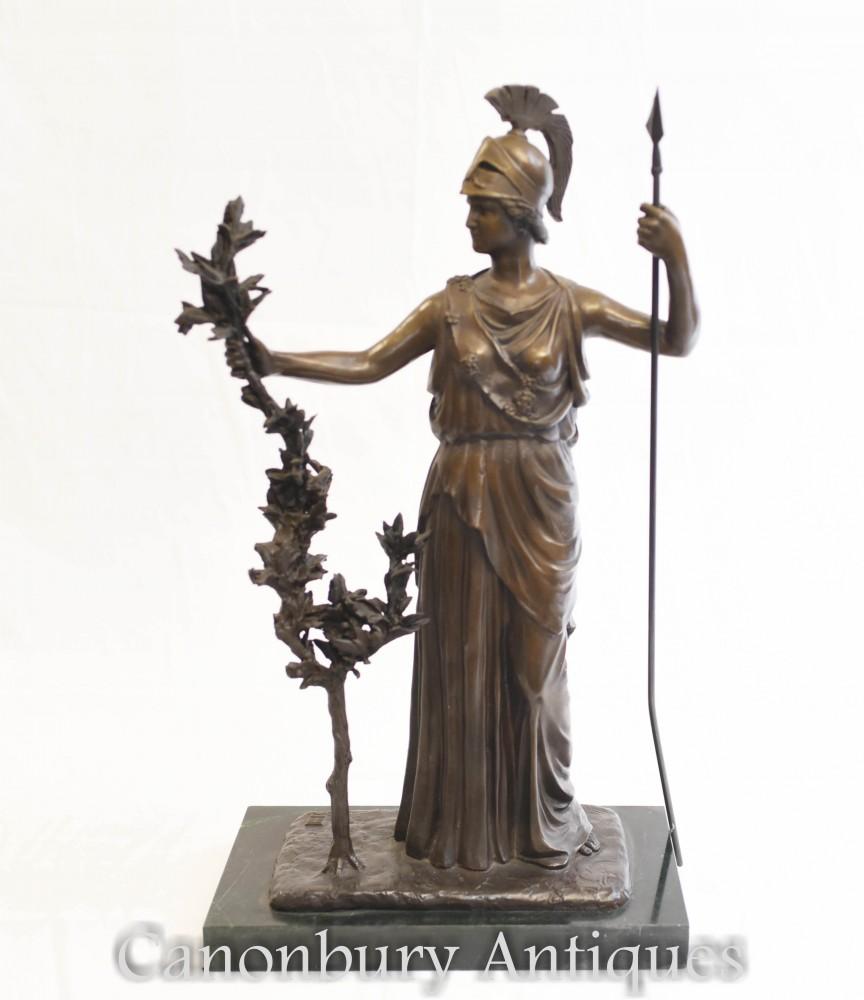 Bronze Statue Britannia - Roman Goddess Britain