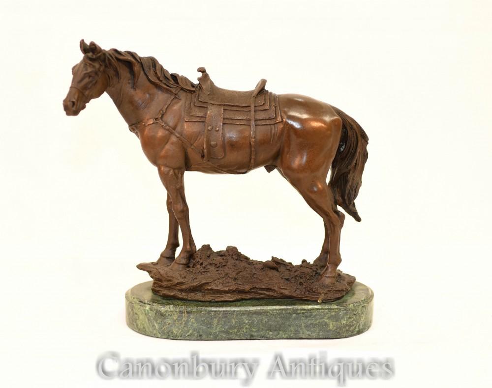French Bronze Horse Statue - Equestrian Statue