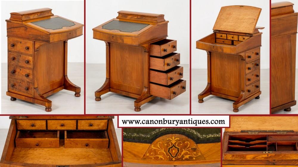 Victorian Davenport Desk - Antique Walnut Circa 1880